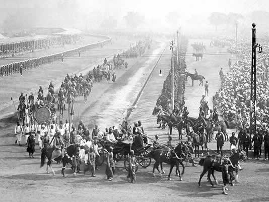 Once the King had passed through the Delhi Gate, the Ruling Princes followed in a glorious procession of ancient tradition, wild exuberance and colour